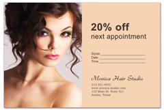 EFFECTIVE Salon Promotion Postcard and Flyer for Spa Hair Stylist
