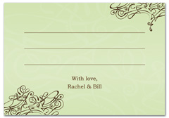 WIR-1002 - wedding thank you and response card