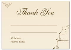 WIR-1004 - wedding thank you and response card