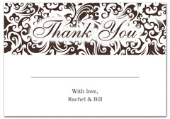 WIR-1037 - wedding thank you and response card