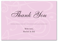 WIR-1043 - wedding thank you and response card