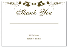 WIR-1070 - wedding thank you and response card