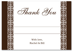 WIR-1085 - wedding thank you and response card