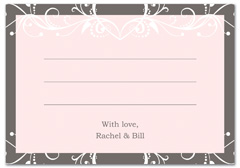 WIR-1092 - wedding thank you and response card