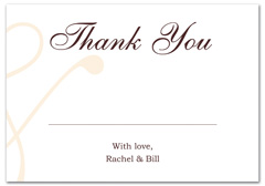 WIR-1109 - wedding thank you and response card