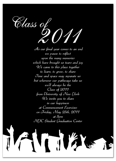 Download kit graduation invitation announcement black word for Free graduation invitation templates for word