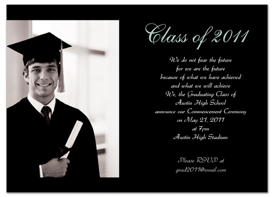 Download Free Graduation Invitation Announcement Black Word Template GI 1033