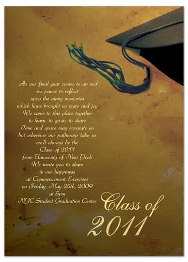 Download Sample Graduation Invitation Announcement Brown ...