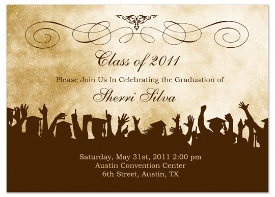 download ideas graduation invitation announcement brown cream, Wedding invitations