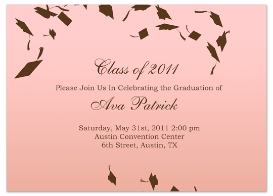 download unique graduation invitation announcement pink word, Wedding invitations