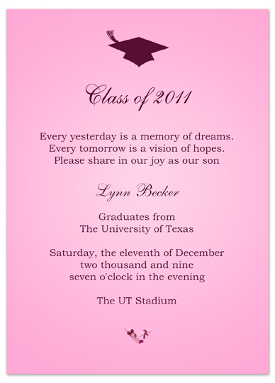 download ideas graduation invitation announcement pink word, Wedding invitations