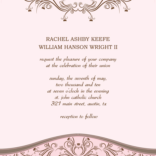 printable wedding invitation announcement word template wi 1079