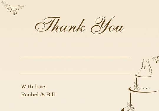 Download Printable Examples Wedding Thank You And Response Card