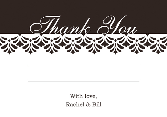 Download Printable Printable Wedding Thank You And Response Card