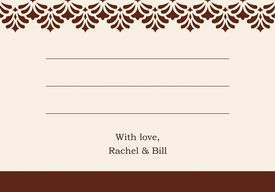 Download Printable Diy Wedding Thank You And Response Card