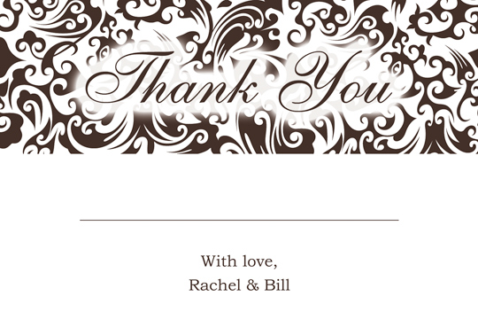 Download Printable Kit Wedding Thank You And Response Card