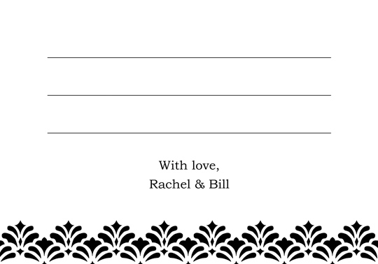 Download Printable Ideas Wedding Thank You And Response Card