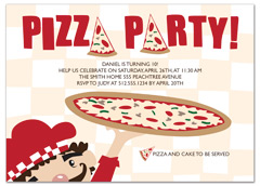 Pizza Party Video Game Birthday Invitation Design