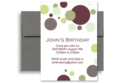 Creative Layout For Birthday Invitation Examples 5x7 in Vertical