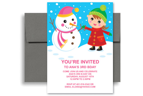 Ice skating snow party birthday invitation examples 5x7 in vertical ice skating snow party birthday invitation examples 5x7 in vertical stopboris Images