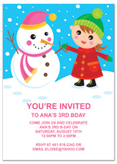 Ice Skating Snow Party Birthday Invitation Examples  How To Word A Birthday Invitation