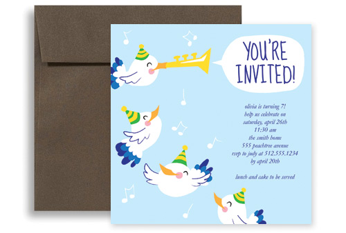 Baby Blue Boy Birthday Invitation Ideas X In Square KID - Baby birthday invitation templates