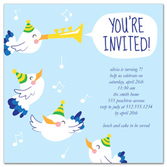 Download Kids Boy Girl Printable MS Word Birthday Invitation - Birthday invitation using ms word