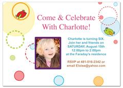 Girl Birds Cartoon 6th Birthday Invitation Ideas