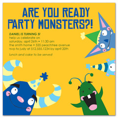 Little Monsters Bash Birthday Invitation Ideas