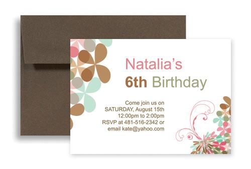 Creative Elegant Design For Birthday Invitation Samples 7x5 in – Creative Birthday Invitation