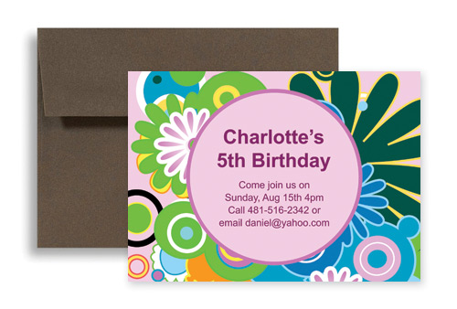 Custom Personalize Designs Birthday Invitation Samples 7x5 in – Invitations Samples for Birthday
