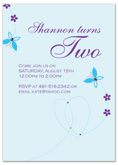 Free Flying Butterflies Birthday Invitation Samples