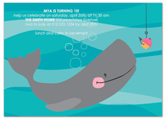 Whale Ocean Beach Birthday Invitation Samples