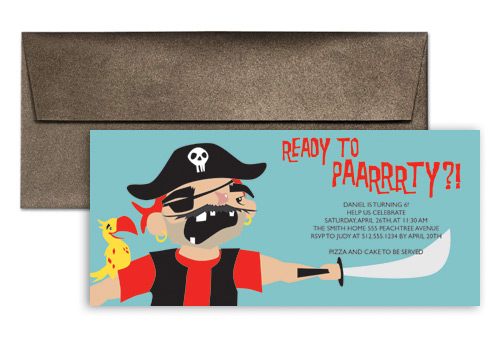 Pirate Party For Kids Birthday Invitation Wording 9x4 in – Invitation Quotes for Party