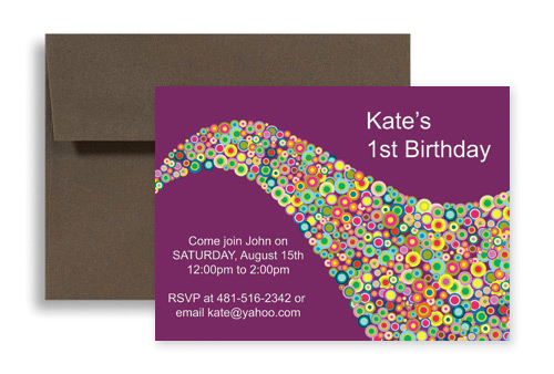 Creative Saxophone Background Birthday Party Invitations 7x5 in – Creative Birthday Invites