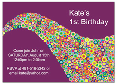Creative Saxophone Background Birthday Party Invitations