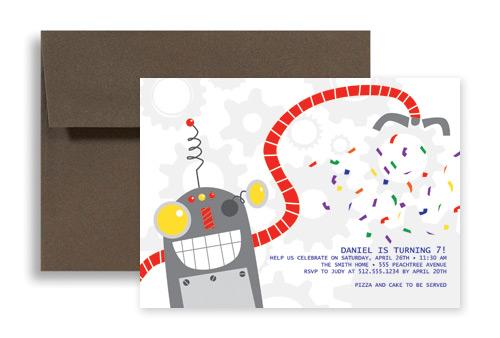 Robot birthday party invitations gidiyedformapolitica robot birthday party invitations filmwisefo Gallery