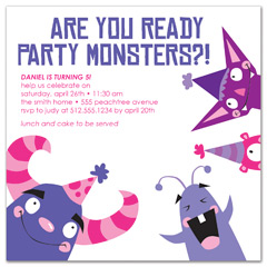 fun party theme blank birthday invitation