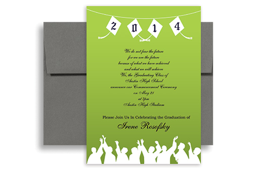 2017 High School Class Of Blank Graduation Announcement 5x7 in