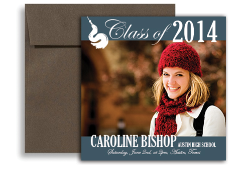 2017 Word Template Blank Graduation Announcement 5x5 in Square – Graduation Announcement Template