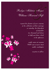 Purple Butterfly Orchid Blank Wedding Invitation