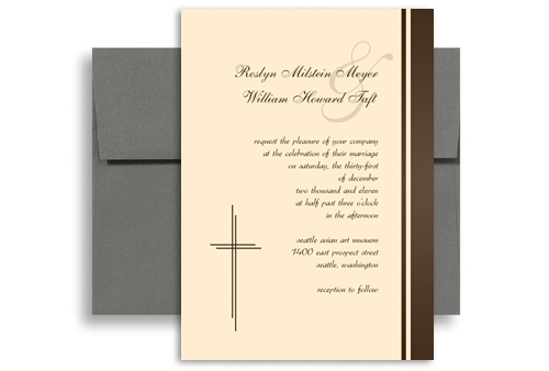 Christian Wording For Wedding Invitations: Spiritual Christians Design Blank Wedding Invitation 5x7