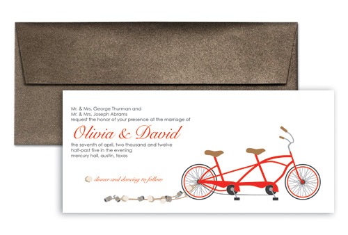 Wedding Invitation Template WI1184 Unique Bicycle Theme Blank Wedding