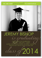 Brown Green Student Graduation Announcement Design