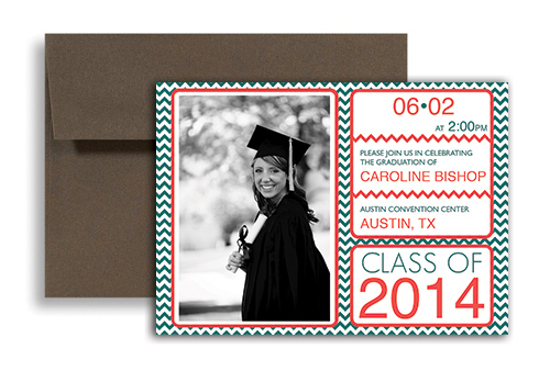 2017 Zebra Template Graduation Announcement Design 7X5 In