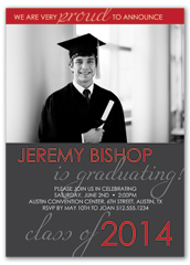Class Of 2018 Graduation Announcement Sample