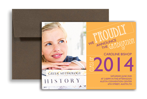 2017 Girl 8th Grade Graduation Announcement Sample 7x5 in – 8th Grade Graduation Invitations