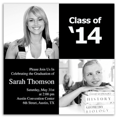 Free graduation invitations announcements party diy templates class black and white college graduation invitation design filmwisefo
