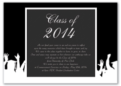 Creative Black White Graduation Invitation Design