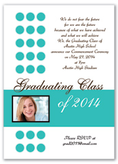 Highschool Senior Graduation Invitation Design